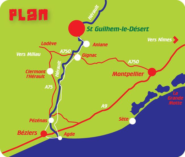 Plan d'acces Canoe Kayapuna