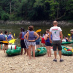 descente en groupe canoë Kayak